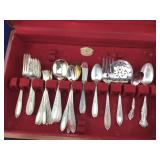 Incomplete Oneida Silverplate Silverware Set/Box