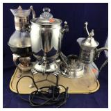 Silverplate Coffee Makers, Warmers, Carafes, etc