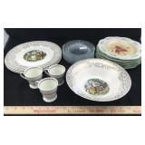 22 K Gold Dishes, Wedgwood Cups & Plates