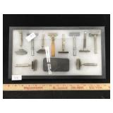 Antique Razors in Display Frame