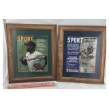 Two Framed Hank Aaron Signed