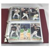 Binder of 1994 Fleer Extra Bases Baseball Cards