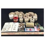 Vintage Crochet thread, Buttons & Silk Repair Kits