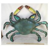 Handmade & Painted Metal Crab Art