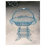 Vintage iron wire fernery