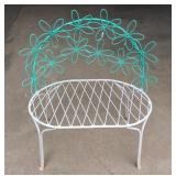 Vintage iron wire bench