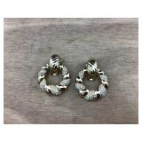 Large Christian Dior Door Knocker Clip Earrings