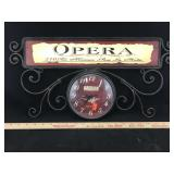 Decorative Opera Battery Powered Wall Clock
