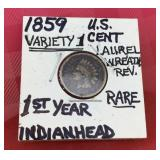 1859 Indian Head Cent