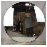 Large Circular Beveled Mirror - No Frame