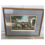 Framed Currier & Ives Lithograph Print