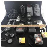 Camera Lens, Flash, and Camera Accessories