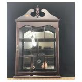 Curio Display Cabinet with Mirror Backing