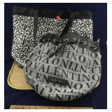 Large Black Trimmed Tote and Valentino Purse