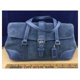 Dusky Blue Suede Coach Purse