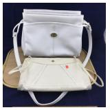 Pair of White Purses