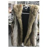 Hooded Sleeveless Lanshifei XLFur Vest