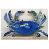 Handmade & Painted Metal Crab Wall Art