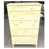 Brand New Unfinished Pine Five Drawer Dresser