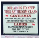2008 Reproduction Vintage Bathroom Sign