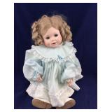 Porcelain /Cloth Shirley Temple Type Toddler  Doll