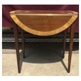 Small Dropleaf Mahogany Side Table