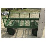 Large Heavy Duty Metal Garden Cart Fold Down Sides
