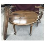 Knotty Pine Table w/ 2 Leaves + 2 Chairs