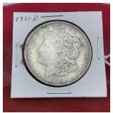 1921 D Morgan Silver Dollar