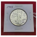 1943 Silver Walking Liberty Half Dollar