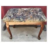 Upholstered Queen Anne Style Footstool