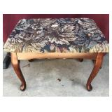 Upholstered Queen Anne Style Cherry Footstool