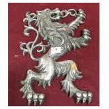 Solid Cast Aluminum Ornate Lion