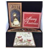 Wooden Christmas Wall Decor