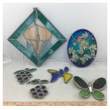 Lot of Stained Glass Art Pieces