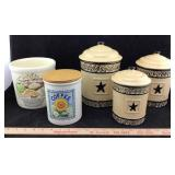 Ceramic Kitchen Canisters & Crock