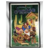 Framed Disney Snow White Poster