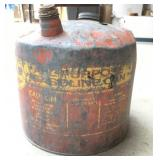Vintage 5-Gallon Metal Gas Can