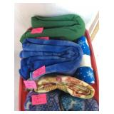 Tote of Fleece Fabrics