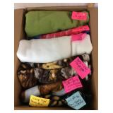 Box of Fleece Fabrics