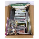 Box of Sewing Patterns, Threads and More