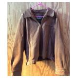 Brown Leather Colebrook Jacket