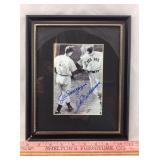 Joe Dimaggio & Ted Williams Signed Frame
