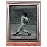 Mickey Mantle Signed Frame