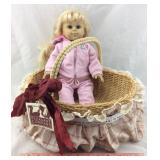 American Girl Doll & Basket