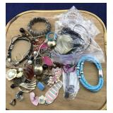 Bag of Odds and Ends Costume Jewelry