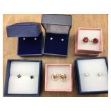 6 Pairs of Boxed Pierced Earrings