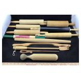 Lot of Wooden Rolling Pins & Other Utensils