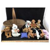 Basket with Ty Beanie Babies