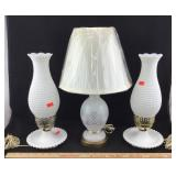 Vintage Milk Glass Lamps & Decorative Lamp